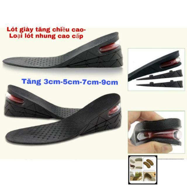 Lót giày tăng chiều cao có đệm khí cả bàn & nửa bàn cao cấp L10