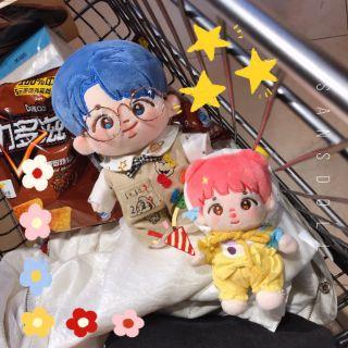 BTS Doll RM búp bê nhồi bông 20cm 15cm Sea Alpha Jun và Moonchild Pink