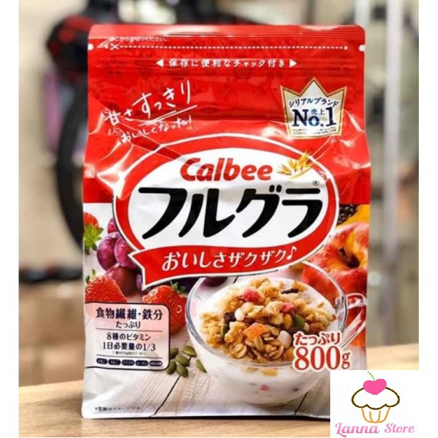 Ngũ cốc trái cây Calbee đủ 8 vị ngon tuyệt - Nhật Bản