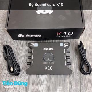 Sound card k10 là dòng dùng cho live stream cho các mic 5V và 48V dòng Sound card XOX K10 thumbnail