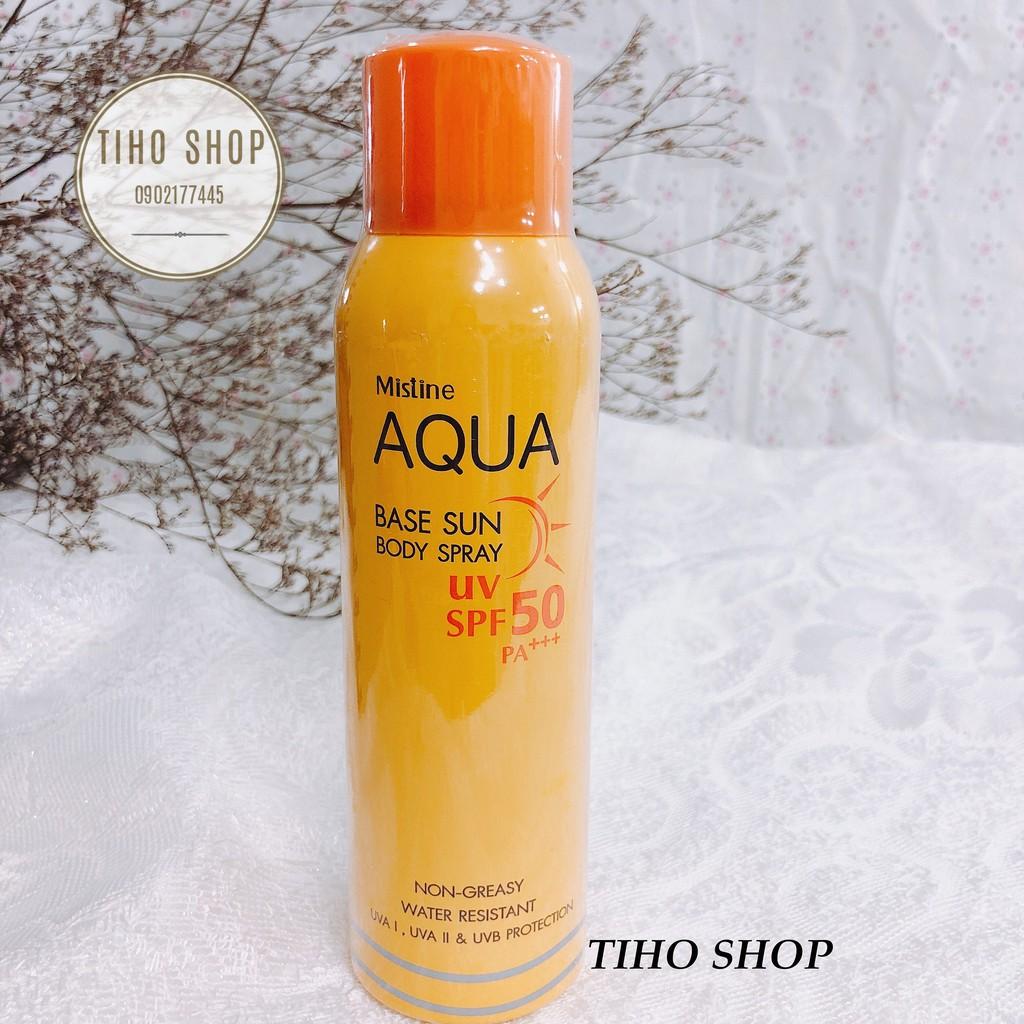 Xịt Chống Nắng Mistine Aqua Base Sun Body Spray UV SPF50 PA+++