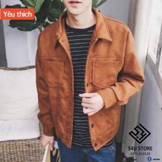😈Được Kiểm Hàng Trước💖 Áo jacket da lộn 😈HÀNG SIÊU CẤP😈