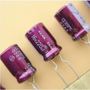 Tụ điện 220uF 16V phân cực ELNA Purple Red Robe RW2
