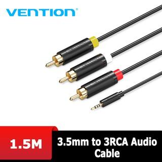 [Mã ELFLASH5 giảm 20K đơn 50K] Audio - Cáp AV 3.5mm to 3RCA Vention 1.5m BCJBG