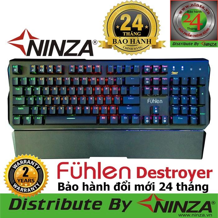 [RẺ VÔ ĐỊCH ] Bàn phím cơ Fuhlen D Destroyer Blue Switch Đèn led 10 chế độ, bảo hành chính hãng Giá chỉ 820.000₫