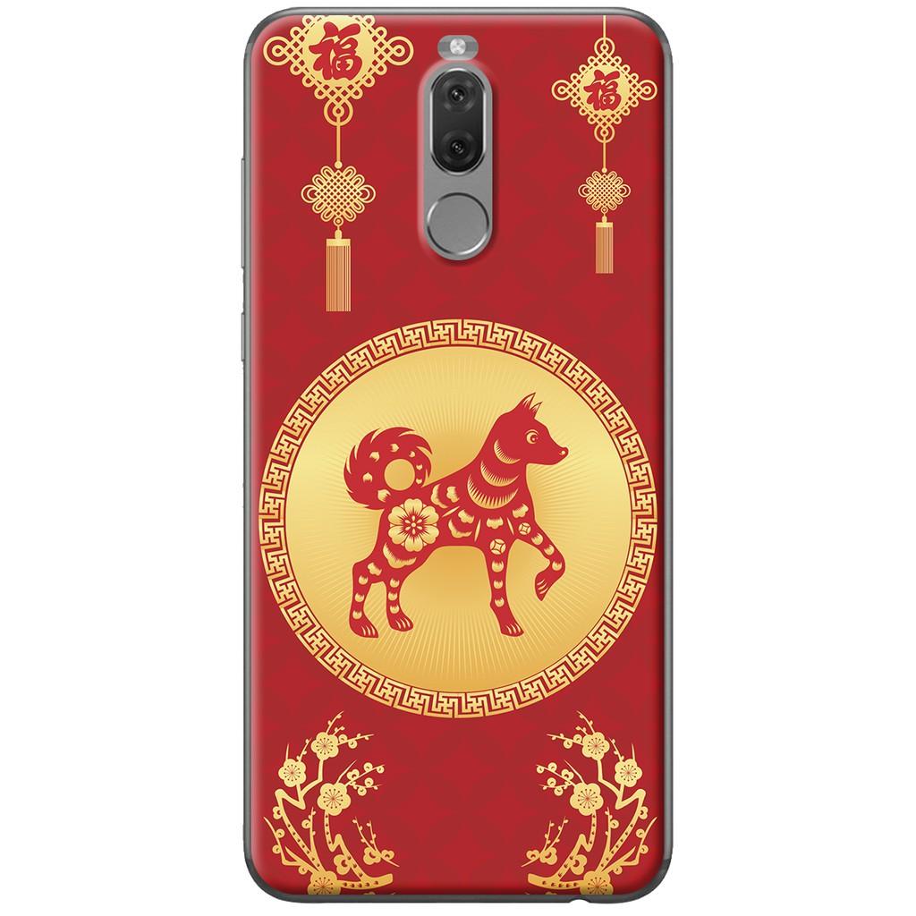Ốp lưng Huawei Nova 2i Mẫu tết chó lồng đèn cành mai
