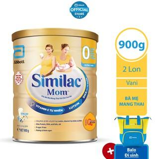 [Tặng Balo đi sinh] Bộ 02 lon Sữa bột Similac Mom 900g