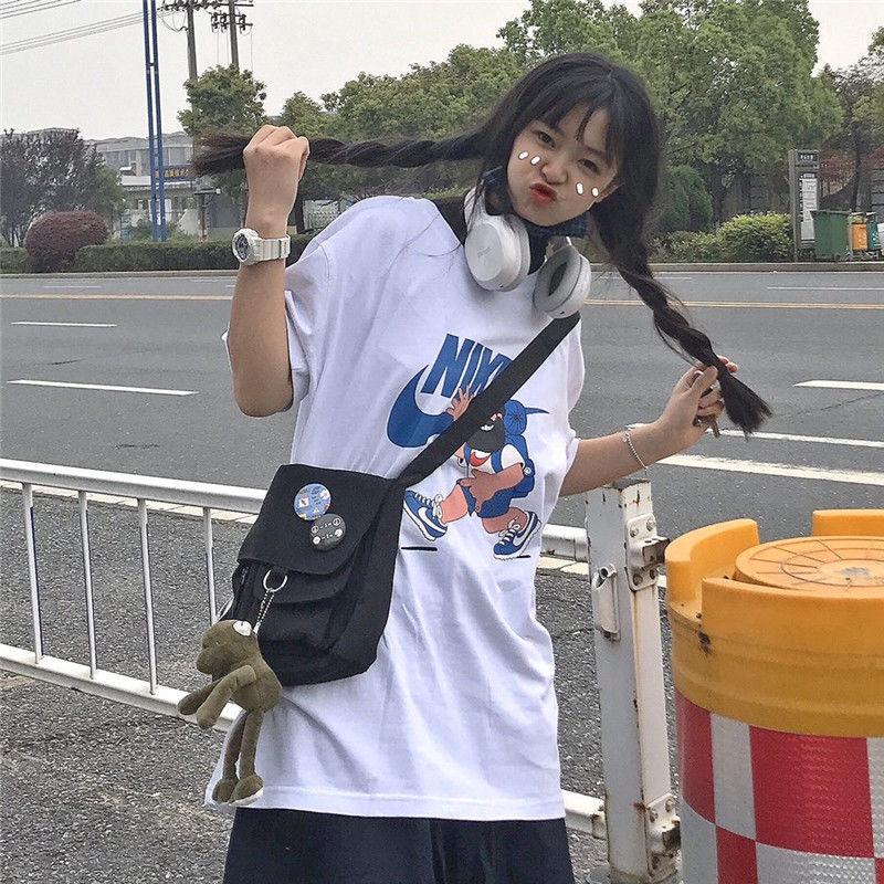 Túi đeo chéo phong cách Harajuku cá tính thời trang dành cho cả nam và nữ