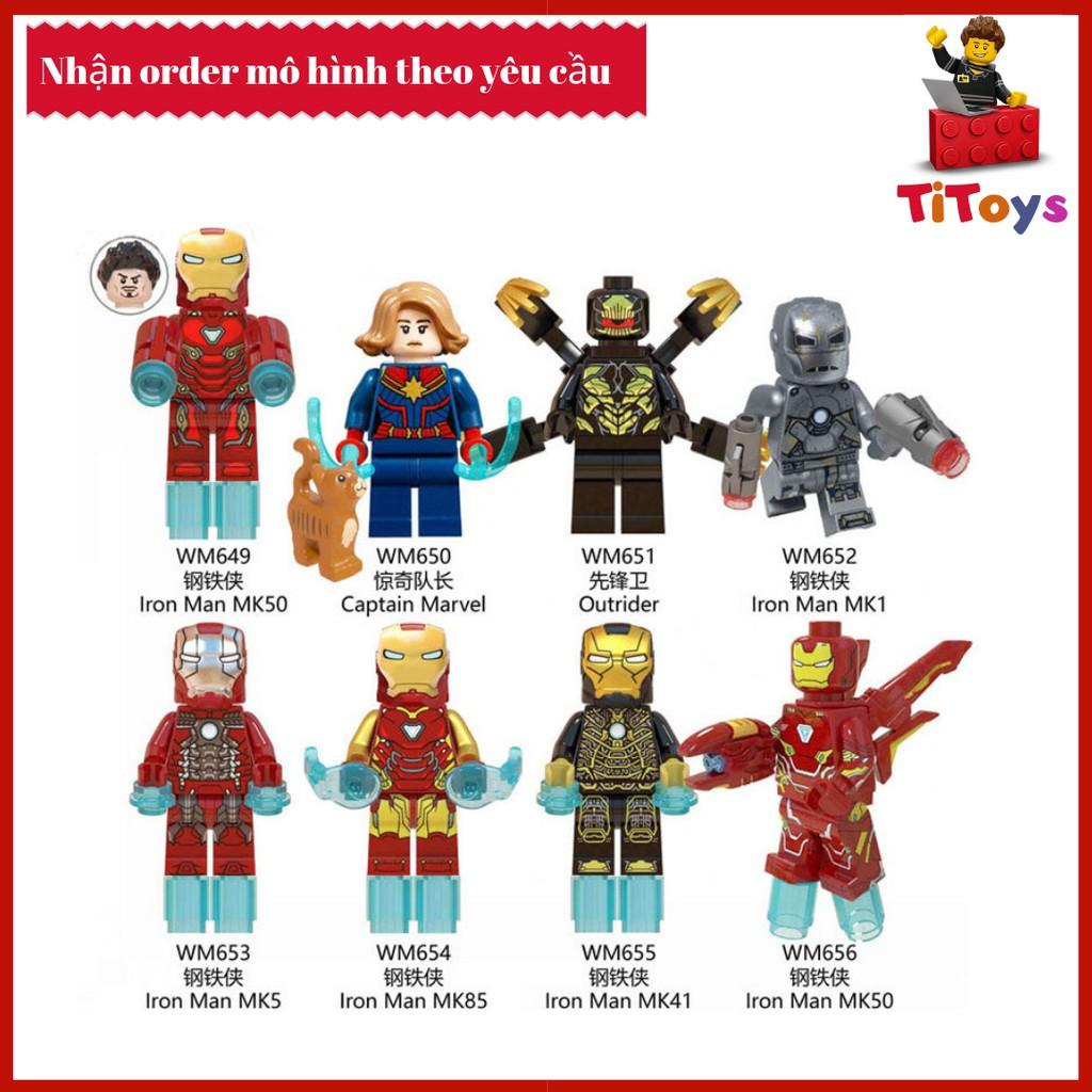Minifigures Các Nhân Vật Siêu Anh Hùng Iron Man Avenger 4 End Game - Đồ  Chơi Lắp Ghép Xếp Hình Mô Hình Iron Man WM 6055