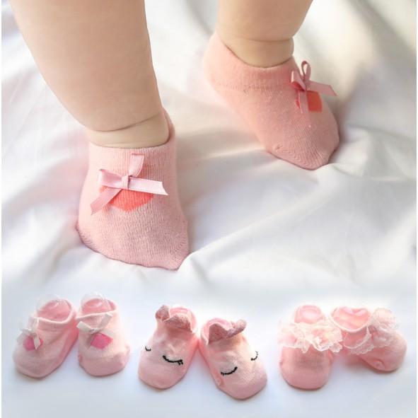 Sét 03 đôi Tất hài cho bé gái
