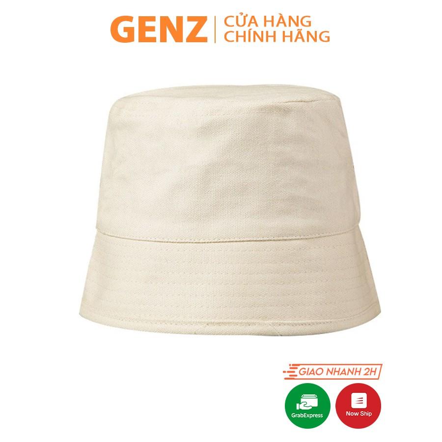 Nón bucket vành cụp GENZ trơn nhiều màu phong cách Ulzzang Unisex ZA015