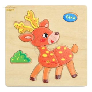 SDX 3D Puzzle Jigsaw Toys For Children Cartoon Animal Vehicle Puzzles Intelligence Development Educational Toy – Sika