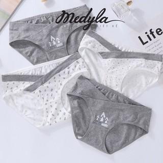 [ CÓ SIZE XL – ĐƯỢC CHỌN MẦU ] Set 4 Quần Lót Bầu Cotton mềm mịn giá rẻ Kèm túi zip sang trọng Medyla