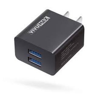 Củ sạc nhanh VivuMax CH22 - 2 cổng USB 5V-2.1A - Hàng chinh hãng- Bảo hành 12 tháng thumbnail
