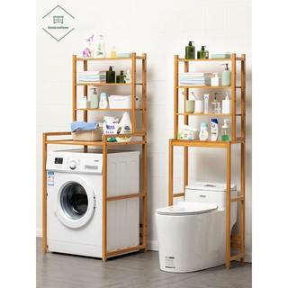 Kệ sau máy giặt bồn cầu toilet nhà vệ sinh phòng tắm tiện ích 2 và 4 tầng gỗ tre lắp ghép đơn giản tiết kiệm không gian