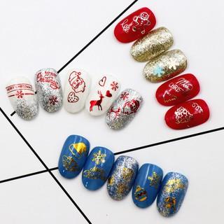 [ FREESHIP 50K ] Đề can móng tay 3D Santa vàng đỏ ánh hình giáng sinh nghệ thuật trang trí móng thumbnail