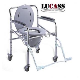 Ghế bô LUCASS GX-300 - Chỗ để chân giúp người bệnh ngồi lâu không mỏi, có thể tháo rời chỗ để chân Sử dụng nút bấm để thumbnail