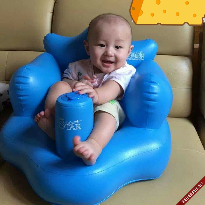 [Free ship 99k giao tại HN + HCM]Ghế phao tập ngồi bơm hơi tự động cho bé