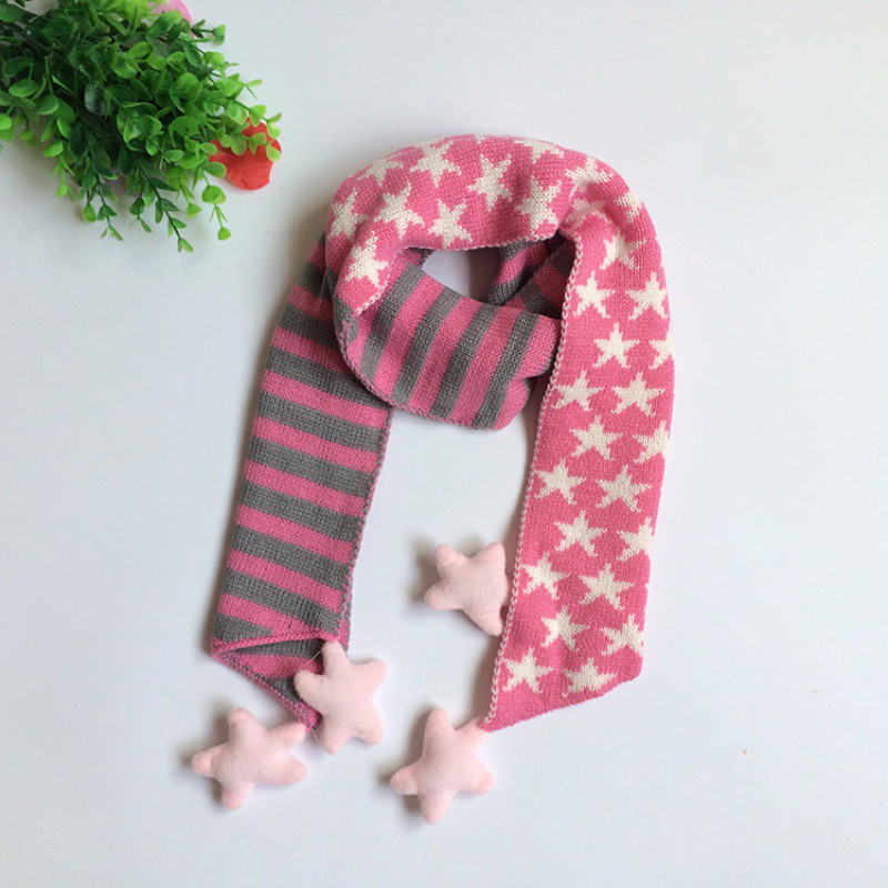 Striped Collar and Soft Velvet Star Pattern for Baby