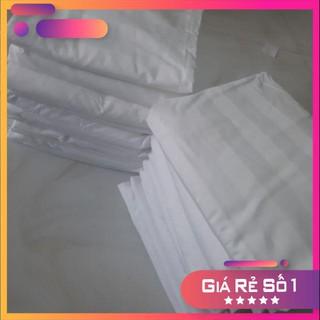 Vỏ gối trắng sọc 40×60. 50×70. 35x105cm