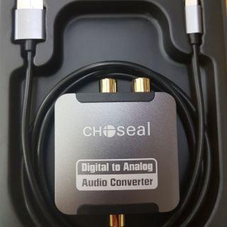 Bộ Chuyển Âm Thanh Quang Ra Hoa Bông sen Chất Lượng Cao Choseal Converter Audio Optical Digital to Analog RL  RCA AQ5601