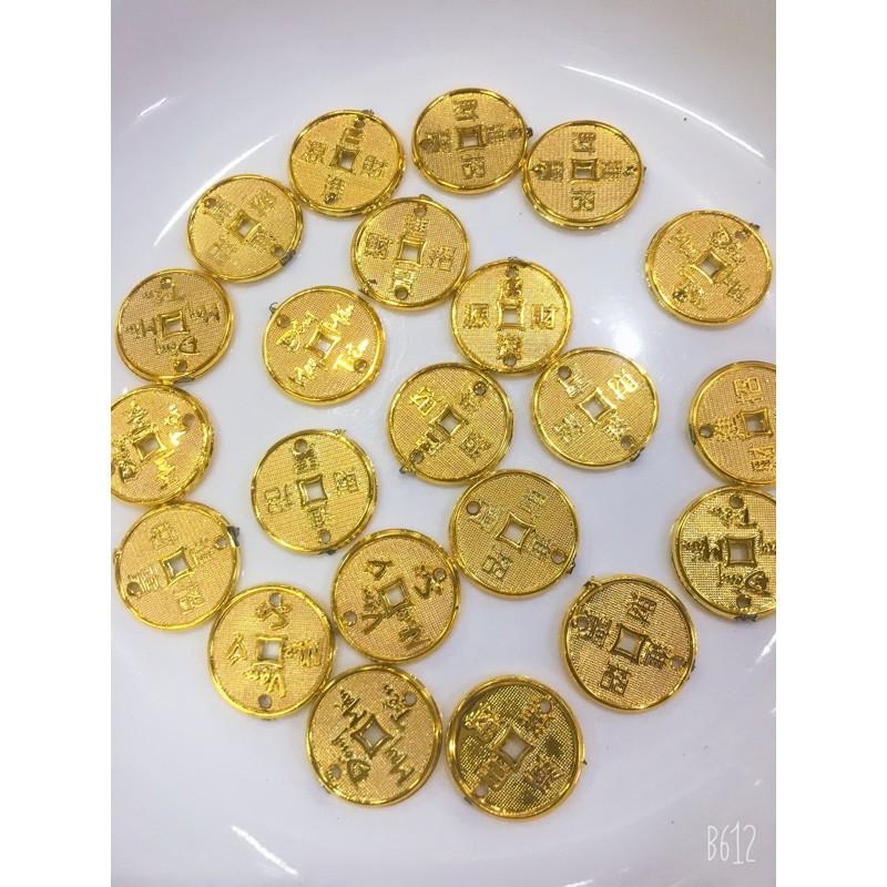 100gram 20li đồng tiền chữ việt và chữ hoa treo cây kim tiền