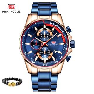 [Tặng vòng tay] Đồng hồ nam MINI FOCUS MF0218G.01fullbox thời trang thép không gỉ thumbnail