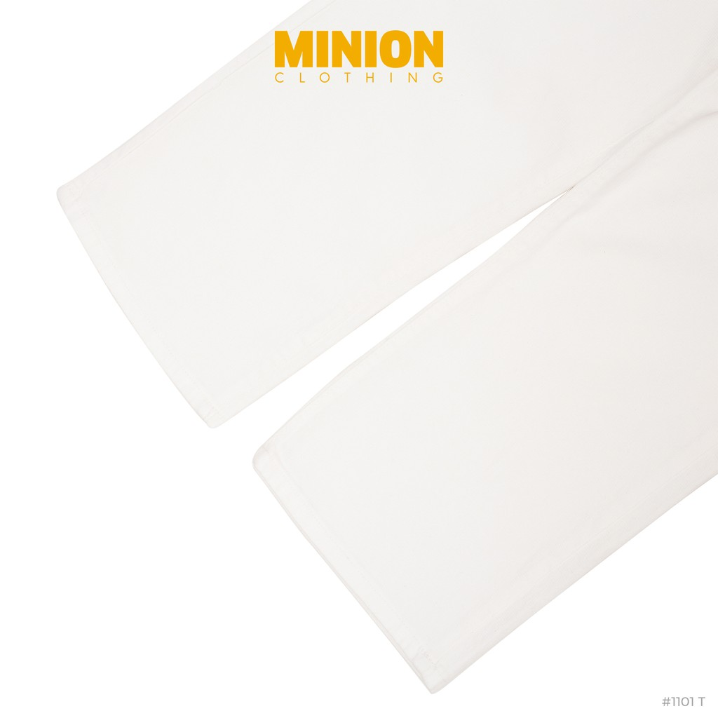 Quần culottes jeans MINION CLOTHING lưng cạp cao bò dáng lửng nữ Ulzzang Streetwear chất jean mềm mại dày dặn Q1101