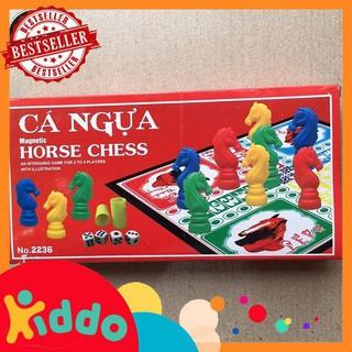 [đồ chơi trẻ em] Bộ bàn cờ cá ngựa nam châm 28cmx28cm