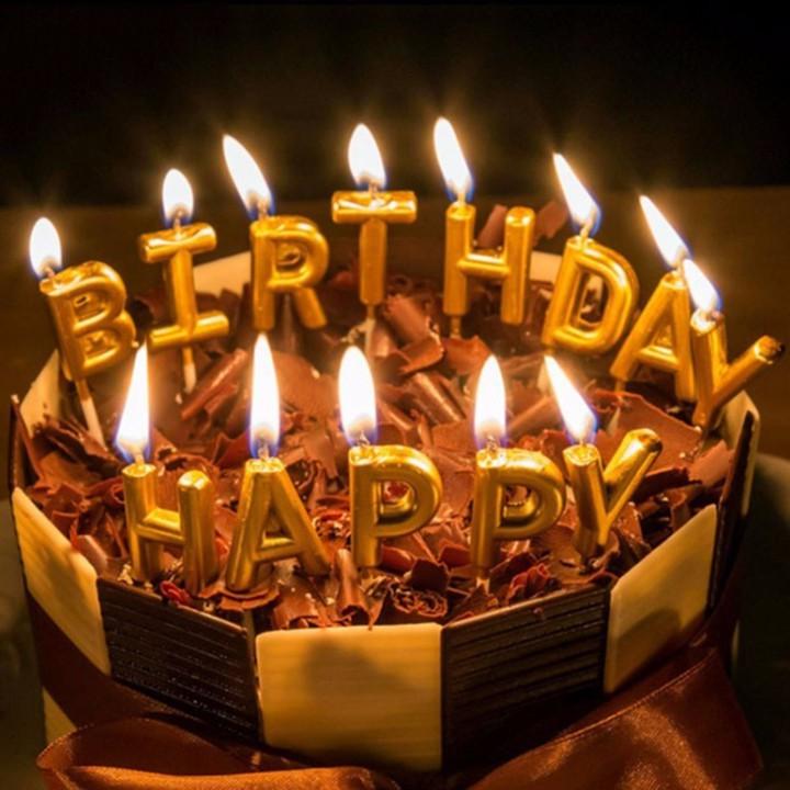 Bộ nến chữ Happy Birthday , bộ nến đèn cầy trang trí sinh nhật | Shopee Việt Nam