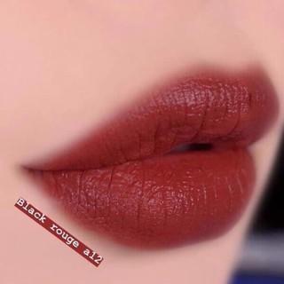 Son Black Rouge A12 ⚡️𝑯𝒂̀𝒏𝒈 𝑯𝒂𝒏𝒅𝒎𝒂𝒅𝒆⚡️ Màu Đỏ Nâu Trầm 👄