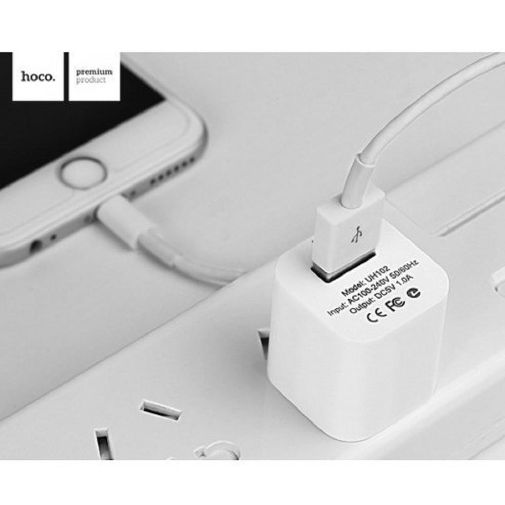 Củ Sạc Iphone Hoco 1A SMART CHARGER Cho Iphone UH102 Chính Hãng Bảo Hành 12 Tháng - Tuấn Case