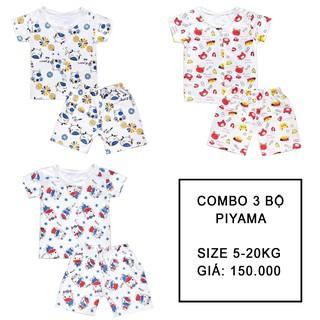 3 Bộ Pijama BOiNU Hình Thú Cho Bé [ Từ 4-20kg ]