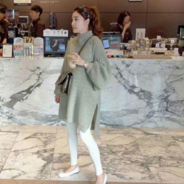 Áo len cổ lọ cho nữ 2017