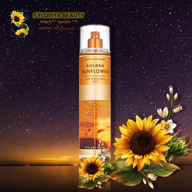 🌻FALL 2020🍎   Xịt Thơm Toàn Thân Bath & Body Works - Golden Sunflower    Lavender In Bloom   Champagne Apple & Honey   Shopee Việt Nam