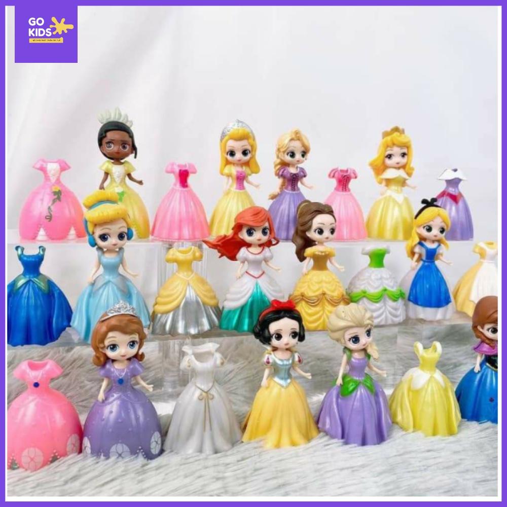 Set 6 công chúa Disney siêu xinh kèm 18 váy