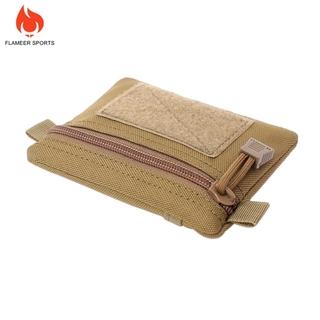 13x11cm Tactical Wallet Key Pouch Molle Gadget Pouch Accessory Bag Black