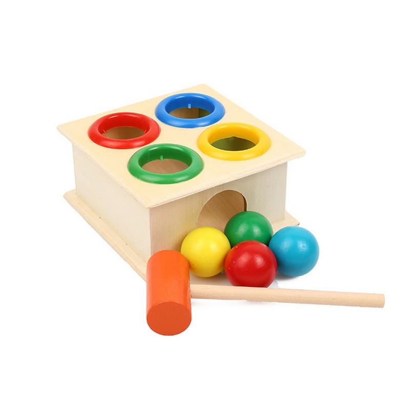 Đồ chơi đập bóng bằng gỗ cho bé