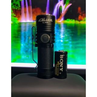 Đèn pin EDC mini SST 40-15w ,2000 lumen,sáng mạnh ,đuôi nam châm,kèm pin SONY16350 1800mah (cao cấp)