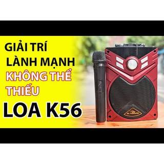 [Tặng Micro Không Dây] Loa Karaoke Bluetooth Di Động K56 - Loa Mini - Loa Máy Tính - Loa KIOMIC Âm Thanh Cực Hay