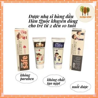 Kem Đánh Răng Cho Bé LION KID SAFE Hàn Quốc, Kem Đánh Răng Nuốt Được, không paraben, không chất tạo ngọt