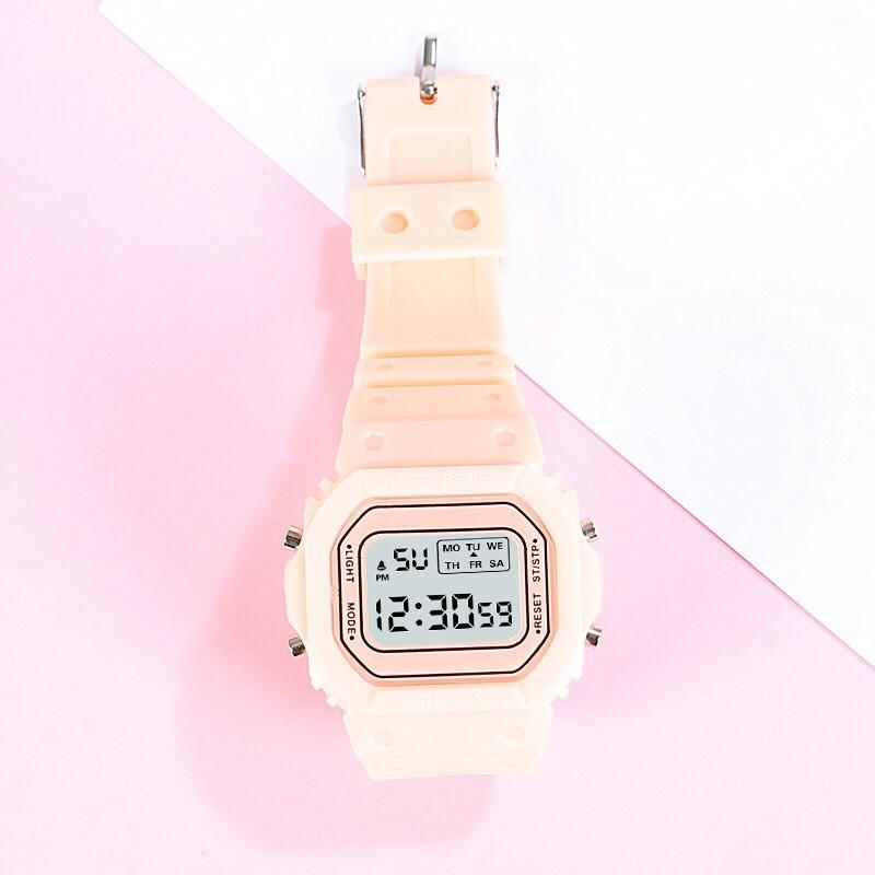 Đồng hồ điện tử nam nữ Sppors khung 6 số QA737