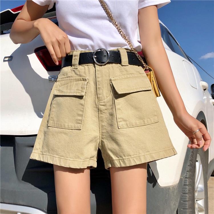 quần short denim ống rộng có thắt lưng - 14359935 , 2401439648 , 322_2401439648 , 170300 , quan-short-denim-ong-rong-co-that-lung-322_2401439648 , shopee.vn , quần short denim ống rộng có thắt lưng