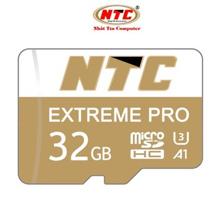 [Mã ELORDER5 giảm 10K đơn 20K] Thẻ nhớ microSDHC NTC Extreme Pro 32GB A1 U3 4K R95MB/s W45MB/s (Gold)