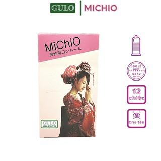 Bao Cao Su Siêu Mỏng MiChiO Gân Gai Hương Dâu - Hộp 12 Chiếc thumbnail