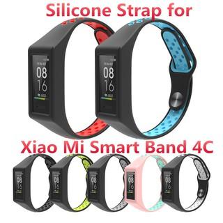 Dây Đeo Silicon Màu Trơn Phụ Kiện Cao Cấp Cho Xiaomi Mi Band 4c thumbnail