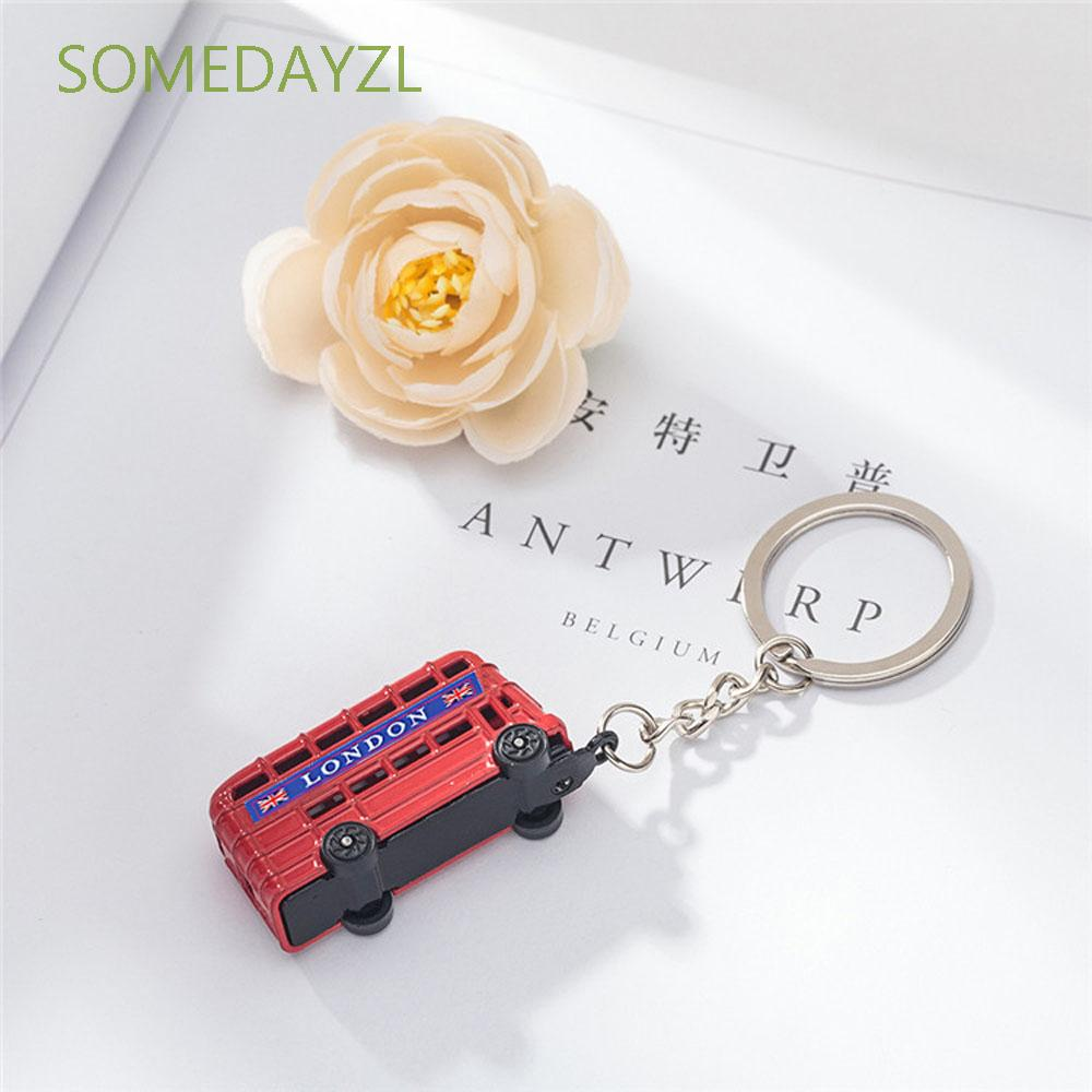 Decoration Mail Box London Bus Fashion Accessories Key Ring Key Chain Jewelry