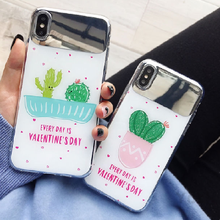 All-inclusive Tpu Iphone6 7 8 7p 6p 8p X Xs Xr Max Mobile Phone Case Drop Protection Cactus 172