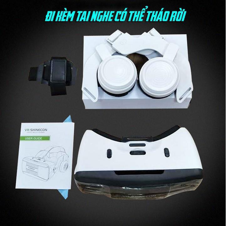 Kính thực tế ảo VR Shinecon 6.0 G06EB - Kính xem phim 3d VR Box G06EB