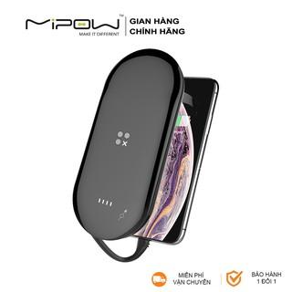 Sạc dự phòng không dây Mipow Cube X3 10000mAh, cáp Lightning PD 18W, Wireless Charger 7.5W